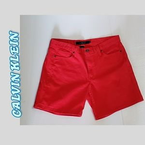 NWOT Red jean shorts